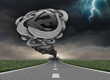 Concept de route de tornade illustration stock