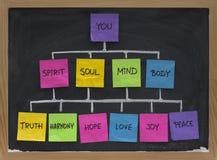 Concept de réseau de zen pendant la durée en harmonie Images stock