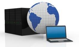 Concept de réseau informatique Images libres de droits