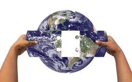 Concept de résoudre la terre \ des 'problèmes de s Photographie stock libre de droits