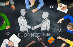 Concept de réunion de planification de coopération de séance de réflexion de tableau noir Images stock