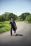 Concept de Running Aspirations Environment d'homme d'affaires images stock