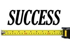 Concept de réussite avec la mesure de bande Photographie stock libre de droits