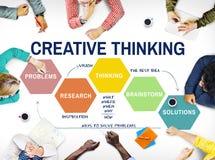 Concept de séance de réflexion de créativité de stratégie d'innovation photos libres de droits