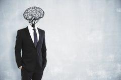 Concept de séance de réflexion et de succès Images stock