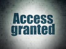 Concept de sécurité : Access a accordé sur le fond de papier de données numériques Images libres de droits