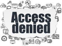 Concept de sécurité : Access a nié sur le fond de papier déchiré Photos stock