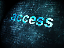 Concept de sécurité : Access sur le fond numérique Illustration Stock