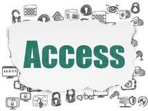 Concept de sécurité : Access sur le fond de papier déchiré Photos libres de droits