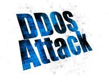 Concept de sécurité : Attaque de DDOS sur le fond de Digital Photo stock