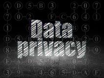 Concept de sécurité : Confidentialité des données dans la chambre noire grunge Photographie stock
