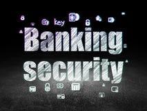 Concept de sécurité : Sécurité d'opérations bancaires dans la chambre noire grunge Images libres de droits