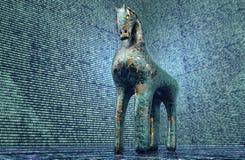 Concept de sécurité d'ordinateur, Trojan Horse dans l'environnement électronique, Photos stock