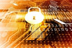 Concept de sécurité de Cyber, Photo libre de droits