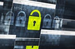Concept de sécurité de données numériques Images libres de droits