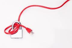 Concept de sécurité de réseau informatique avec le cadenas au-dessus du réseau c Photo libre de droits