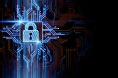 Concept de sécurité et de mot de passe illustration stock