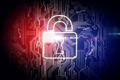 Concept de sécurité et de Web illustration de vecteur