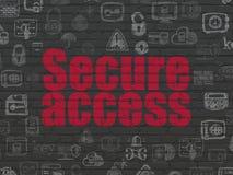 Concept de sécurité : Fixez Access sur le fond de mur Images stock