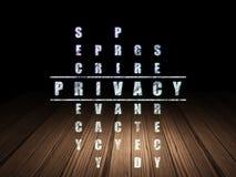 Concept de sécurité : intimité de mot dans la solution Photo libre de droits