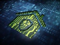Concept de sécurité : Maison sur le fond d'écran numérique Photo libre de droits