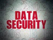 Concept de sécurité : Protection des données sur le papier de Digital Photographie stock