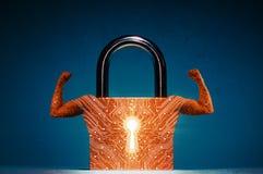 Concept de sécurité de réseau, protection de virus, protection des données images libres de droits