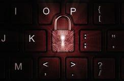 Concept de sécurité de réseau, protection de virus, protection des données photo stock