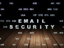 Concept de sécurité : Sécurité d'email dans l'obscurité grunge Images libres de droits
