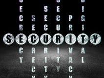 Concept de sécurité : sécurité de mot dans la solution illustration stock