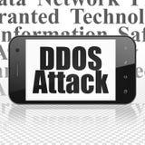 Concept de sécurité : Smartphone avec l'attaque de DDOS sur l'affichage illustration libre de droits