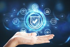 Concept de sécurité de Web Photos stock