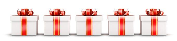 Concept de sélection de cinq cadeaux Images libres de droits
