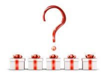 Concept de sélection de trois cadeaux Image libre de droits
