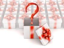 Concept de sélection de trois cadeaux Photographie stock