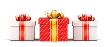 Concept de sélection de trois cadeaux Images libres de droits