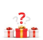 Concept de sélection de trois cadeaux Images stock