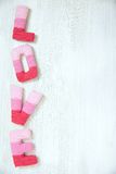 Concept de Saint-Valentin avec amour de lettres Photo stock