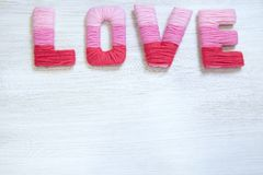 Concept de Saint-Valentin avec amour de lettres Image libre de droits