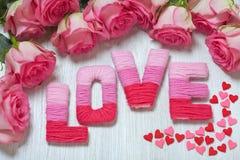 Concept de Saint-Valentin avec amour de lettres Photo libre de droits