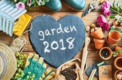 Concept 2018 de saison de jardin Images stock