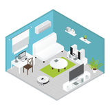 Concept de salon d'Isometrics illustration de vecteur