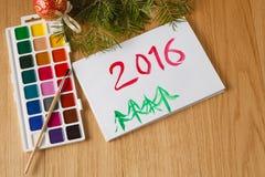 Concept de salutation de Noël d'enfant Photographie stock libre de droits