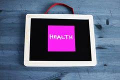 Concept de santé écrit sur le tableau noir Image stock