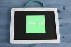 Concept de santé écrit sur le tableau noir Photographie stock libre de droits