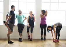 Concept de santé de forme physique d'exercice de séance d'entraînement images stock