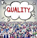 Concept de satisfaction de catégorie de valeur de garantie de qualité Photos libres de droits