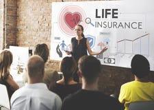 Concept de sauvegarde de bénéficiaire de protection d'assurance-vie photos stock