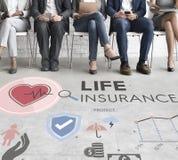 Concept de sauvegarde de bénéficiaire de protection d'assurance-vie images stock