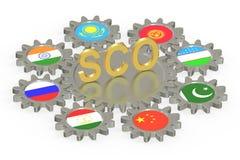 Concept de SCO, rendu 3D illustration libre de droits